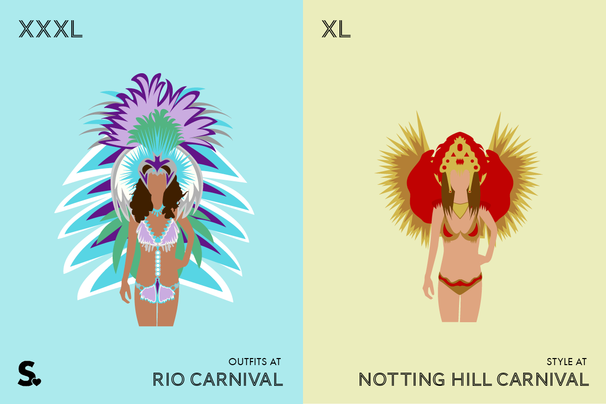 Rio-vs-London-Carnival Costumes